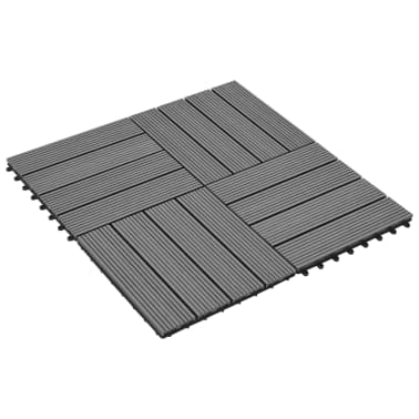 Pilkos WPC Plytelės, 30x30cm, 11 vnt., 1 m2[2/6]