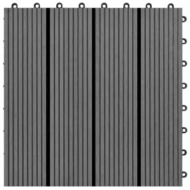 Pilkos WPC Plytelės, 30x30cm, 11 vnt., 1 m2[4/6]