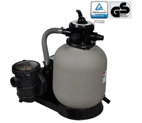 vidaXL Bomba de filtro de areia 600 W 17000 l/h