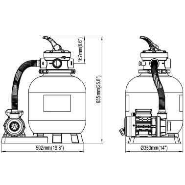 vidaXL Bomba filtro de arena 600 W 17000 l/h[5/5]