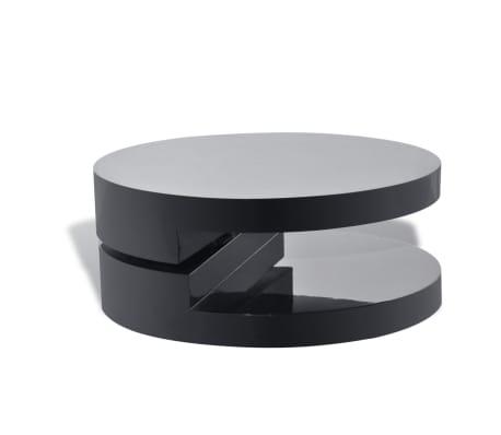 vidaxl couchtisch rund hochglanz schwarz g nstig kaufen. Black Bedroom Furniture Sets. Home Design Ideas