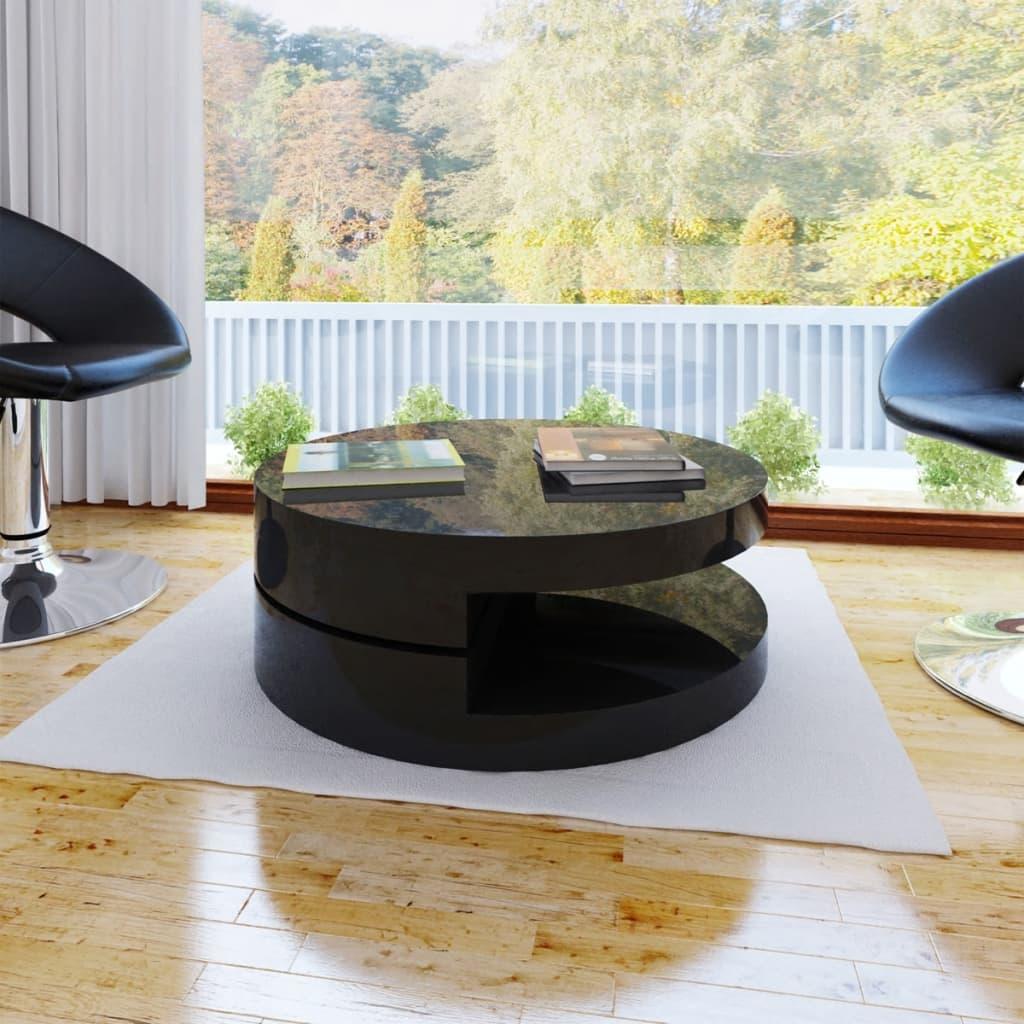 vidaXL Konferenční stolek kulatý černý