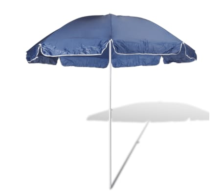 240cm parasol de plage bleu. Black Bedroom Furniture Sets. Home Design Ideas