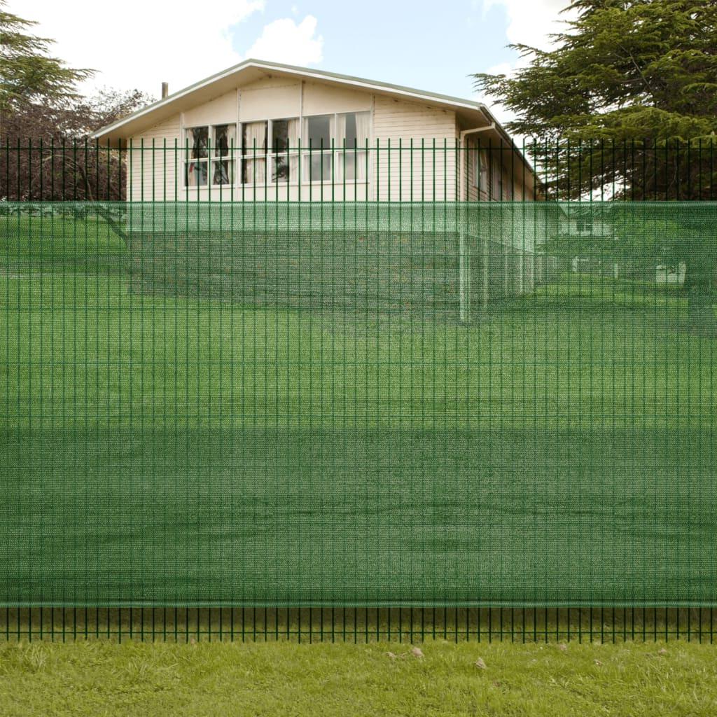 Clona na plot / stínící síť na plot 1 m x 3 m - 85% stínivost - zelená