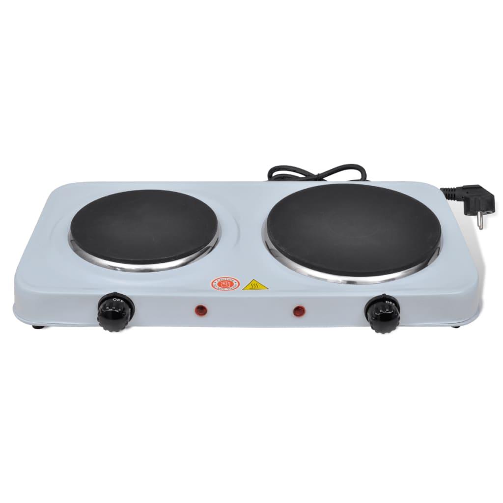 Afbeelding van vidaXL Elektrische kookplaat 2500W 2-pits