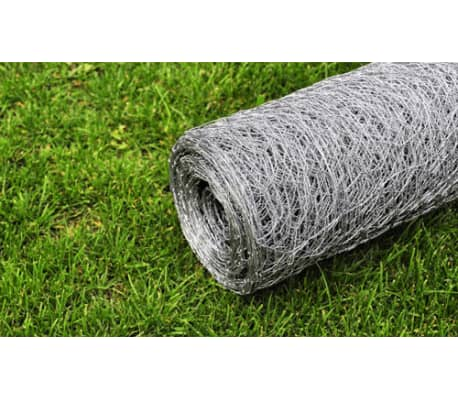 "Hexagonal Wire Netting 1' 7"" x 82' Galvanized Mesh Size 0.5""[4/4]"