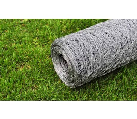 "Hexagonal Wire Netting 1' 7"" x 82' Galvanized Mesh Size 1.4""[4/4]"