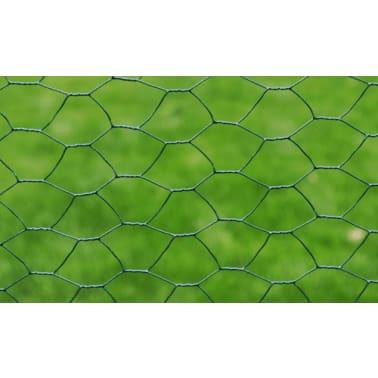 Red De Alambre Hexagonal 75cm x 25M Recubrimiento Espesor De 1mm[3/4]
