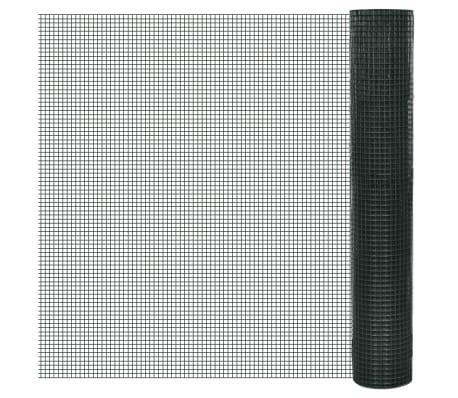 1x10m Rete recinzione acciaio galvanizzato maglia quadrata 12x12mm PVC[1/4]