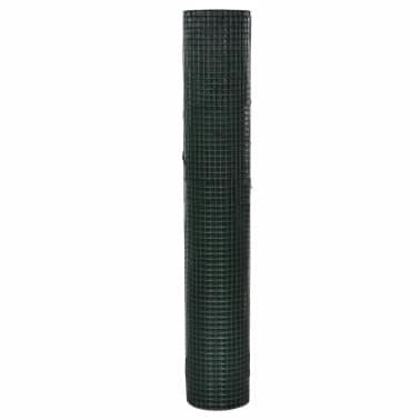 1x10m Rete recinzione acciaio galvanizzato maglia quadrata 12x12mm PVC[2/4]