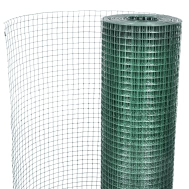 1x10m Rete recinzione acciaio galvanizzato maglia quadrata 12x12mm PVC[4/4]