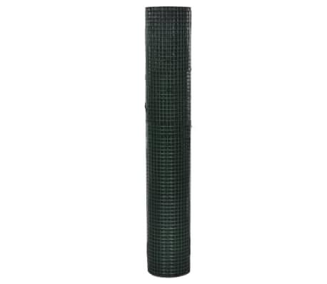 vidaXL Vielinis tinklas, žalias, 10x1m, cinkuotas ir dengtas PVC[2/4]