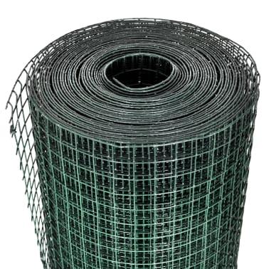 vidaXL Vielinis tinklas, žalias, 10x1m, cinkuotas ir dengtas PVC[3/4]