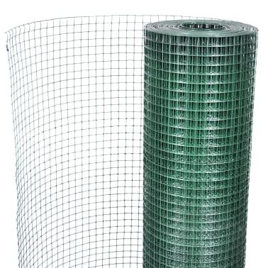 vidaXL Vielinis tinklas, žalias, 10x1m, cinkuotas ir dengtas PVC[4/4]