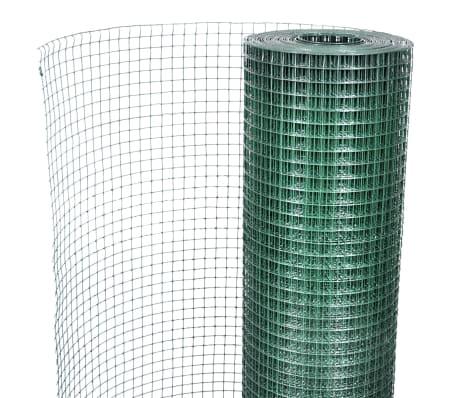 vidaXL Filet 1 m x 25 m Maille galvanisée et enduite de PVC 16 x 16 mm[2/4]