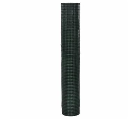 vidaXL Filet 1 m x 25 m Maille galvanisée et enduite de PVC 16 x 16 mm[4/4]