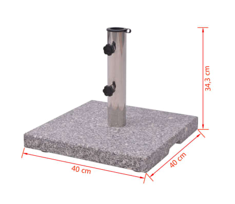 vidaXL Granite Parasol Base Umbrella Holder 44 lb[5/5]
