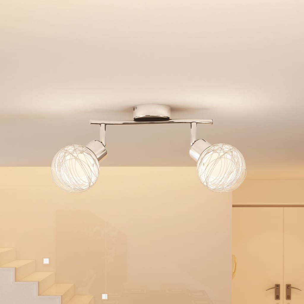 Svítidlo se 2 skleněnými koulemi včetně žárovky 40W, G9 zásuvka