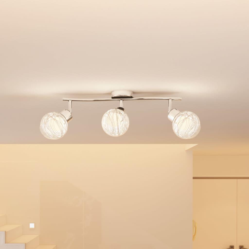 Svítidlo se 3 skleněnými koulemi včetně žárovky 40W, G9 zásuvka