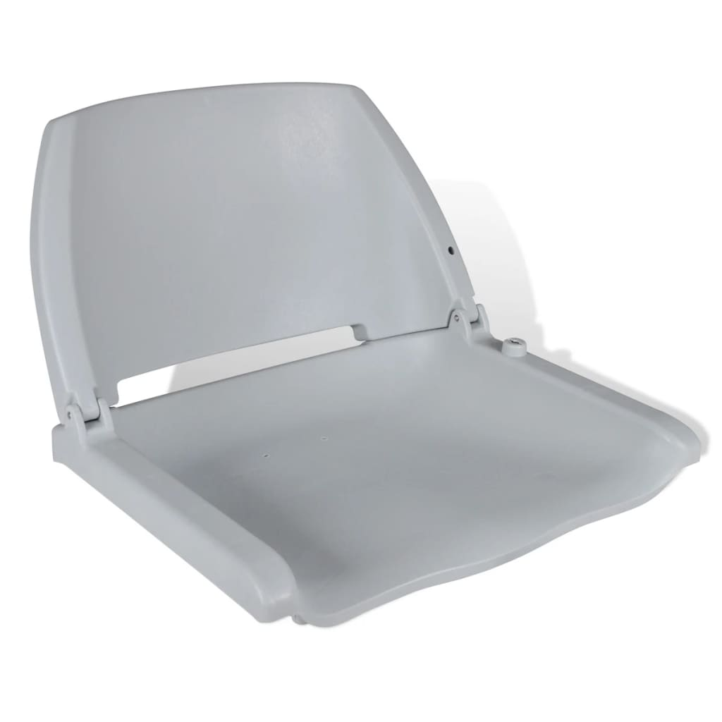 vidaXL Boat Seat Foldable Backrest No Pillow Grey 41 x 51 48 cm