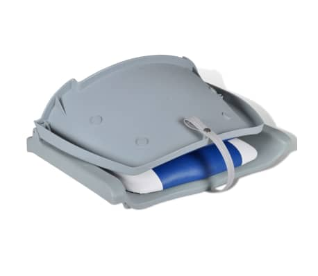"Boat Seat Foldable Backrest with Blue-white Pillow 16.1""x20.1""x18.9""[3/4]"