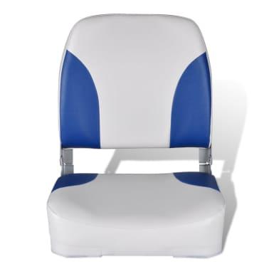 Sedadlo do člunu, sklopné opěradlo, modrobílý polštář, 41 x 36 x 48 cm[2/4]