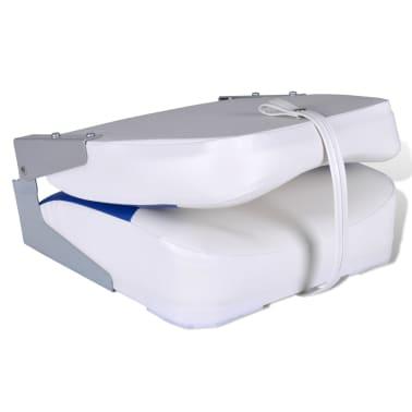 Sedadlo do člunu, sklopné opěradlo, modrobílý polštář, 41 x 36 x 48 cm[3/4]