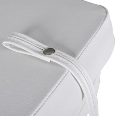 Sedadlo do člunu, sklopné opěradlo, modrobílý polštář, 41 x 36 x 48 cm[4/4]