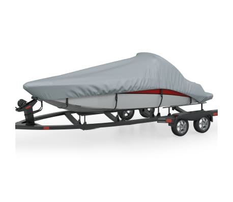 Boat Cover Gray Length 14'-16' Width 7.5'[1/5]