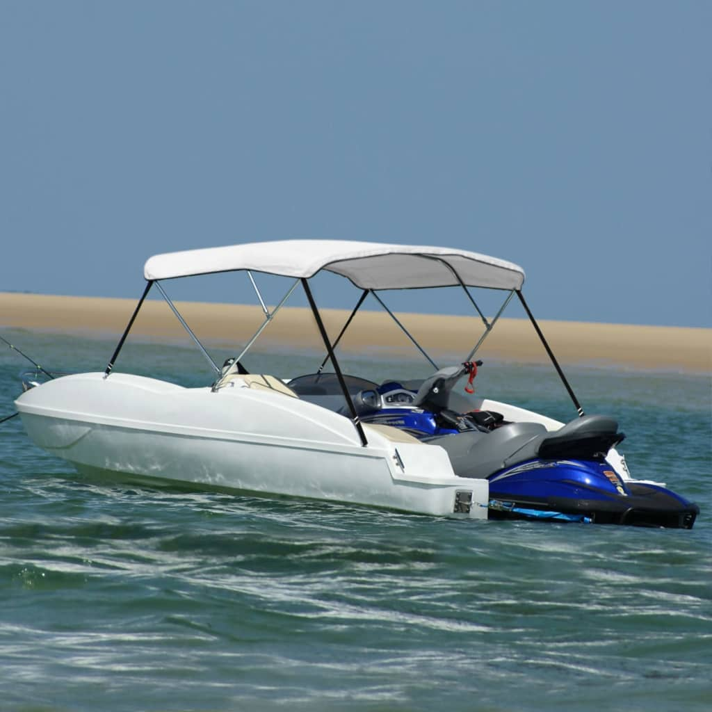 Parasolar barcă Bimini-Top alb 196 x 110 cm imagine vidaxl.ro