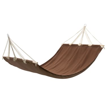 "Hammock with Bar 82.7""x59"" Brown[1/4]"