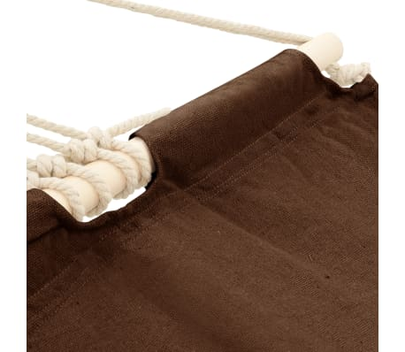 "Hammock with Bar 82.7""x59"" Brown[3/4]"