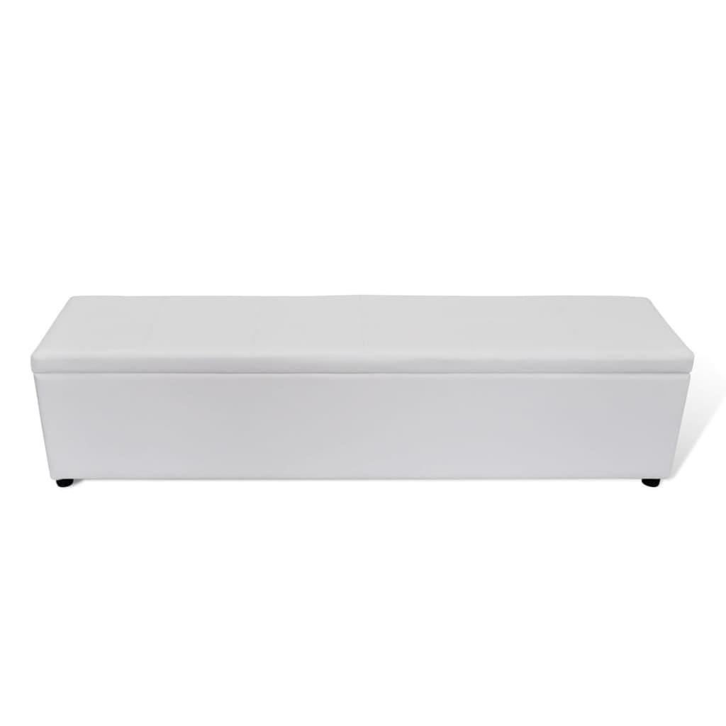 Lavice s úložným prostorem bílá, velká