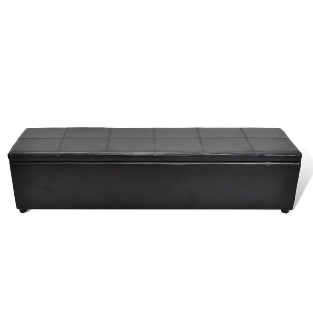 Lavice s úložným prostorem černá, velká