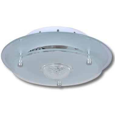 Lubų šviestuvas, stiklinis, apvalus 1 x E27, su krištoline detale[2/7]