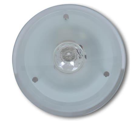 Lubų šviestuvas, stiklinis, apvalus 1 x E27, su krištoline detale[3/7]