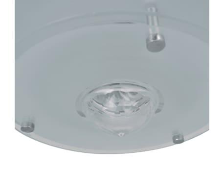 Lubų šviestuvas, stiklinis, apvalus 1 x E27, su krištoline detale[4/7]