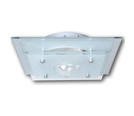 Lubų šviestuvas, stiklinis, kvadratinis 1 x E27, su krištoline detale[2/7]