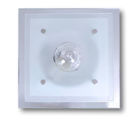 Lubų šviestuvas, stiklinis, kvadratinis 1 x E27, su krištoline detale[3/7]