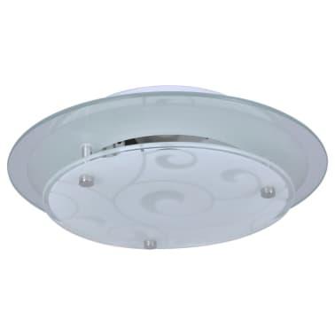 vidaXL Plafondlamp rond glas 1xE27 patroon[2/6]
