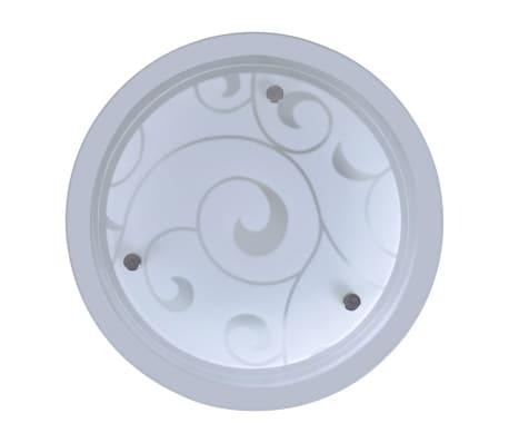 vidaXL Plafondlamp rond glas 1xE27 patroon[3/6]