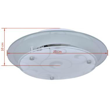 vidaXL Plafondlamp rond glas 1xE27 patroon[4/6]