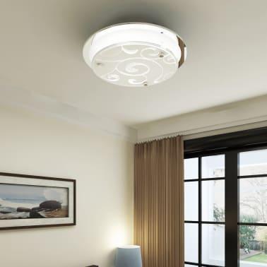 vidaXL Plafondlamp rond glas 1xE27 patroon[1/6]