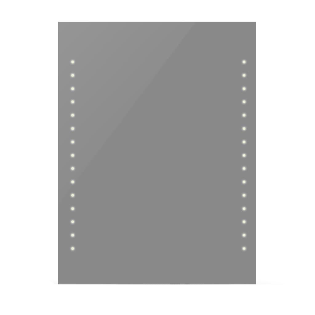 Afbeelding van vidaXL Badkamerspiegel met LEDs 60x80 cm