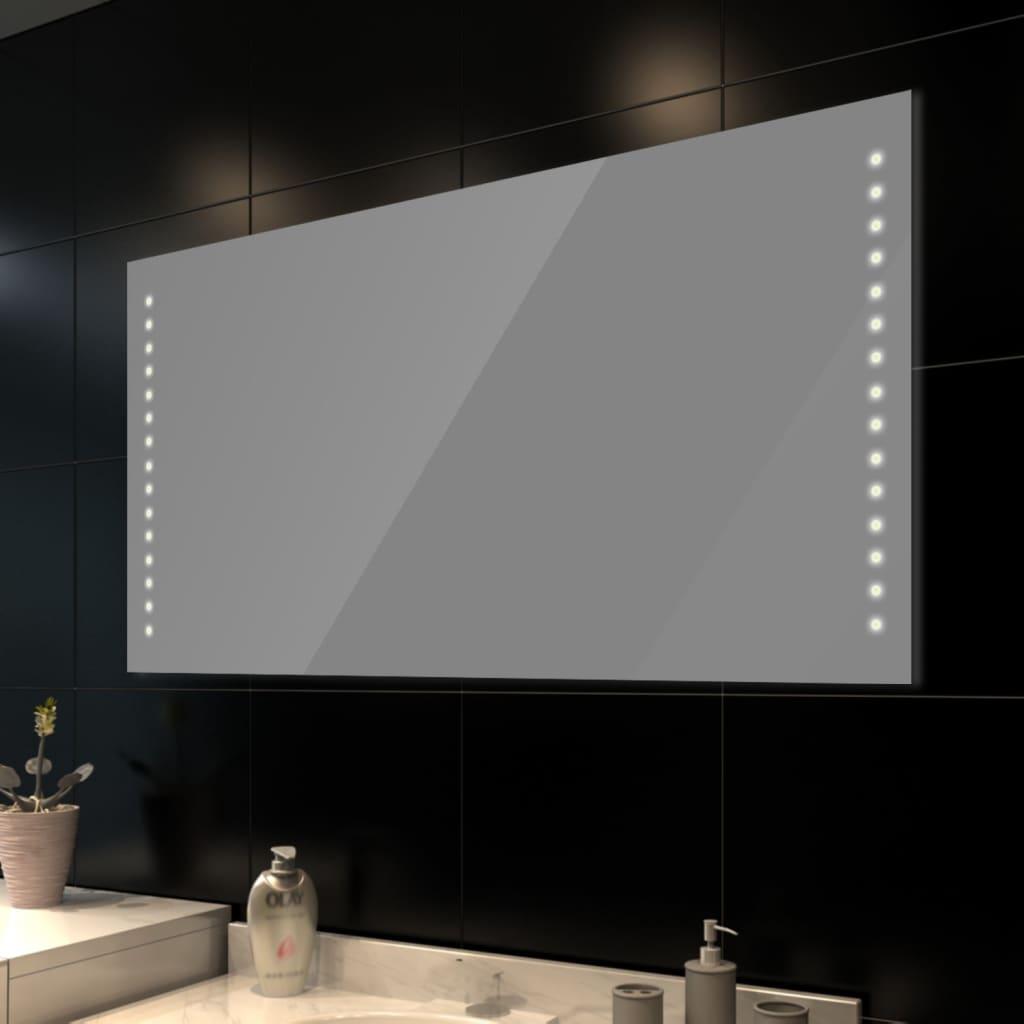 Koupelnové zrcadlo s LED diodami, nástěnné, 100 x 60 cm (D x V)