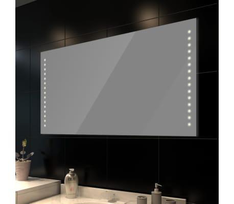 Стенно огледало за баня със LED светлини, 100 x 60 см (Д х В)[1/3]