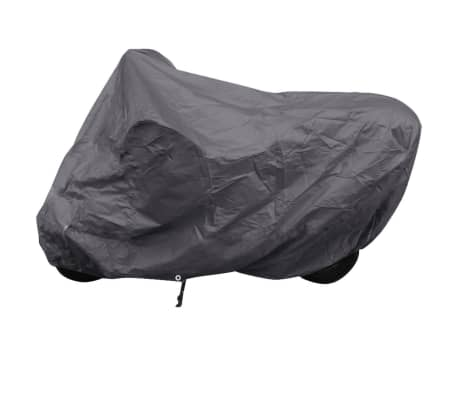 vidaXL Motorcykelöverdrag grå polyester