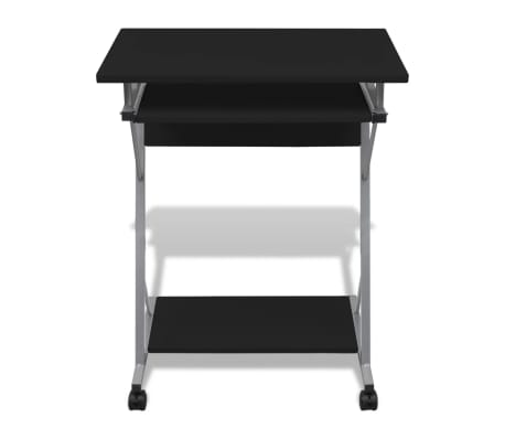 Computer Desk Pull Out Tray Black Furniture Office Student Table[2/5]