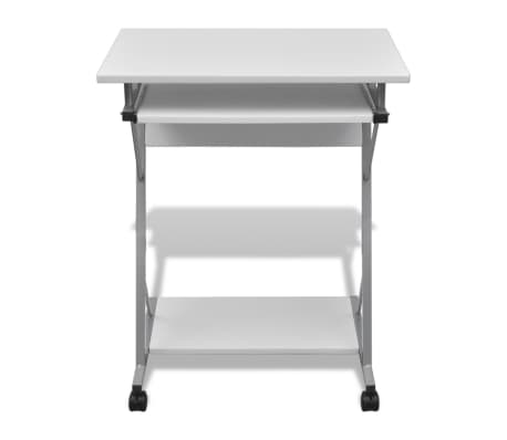 Computer Desk Pull Out Tray White Furniture Office Student Table[2/5]