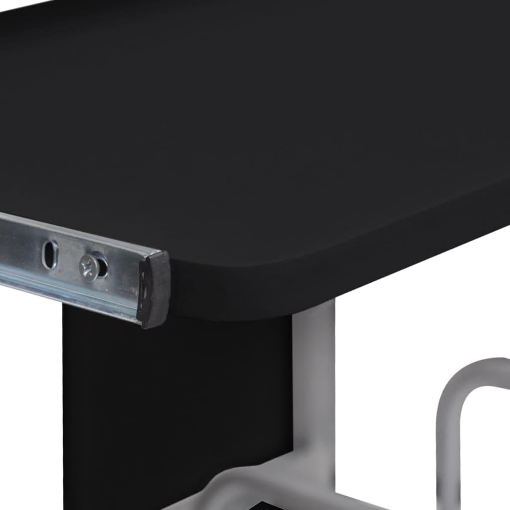 Počítačový stůl s výsuvnou deskou pro klávesnici černý